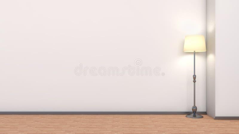 Interior vacío con la lámpara incluida ilustración del vector
