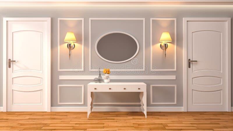 Interior vacío con la lámpara incluida ilustración 3D ilustración del vector