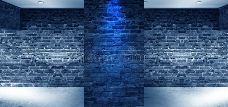 Interior vacío con las paredes de ladrillo, arcos de la luz de la ventana representación 3d libre illustration