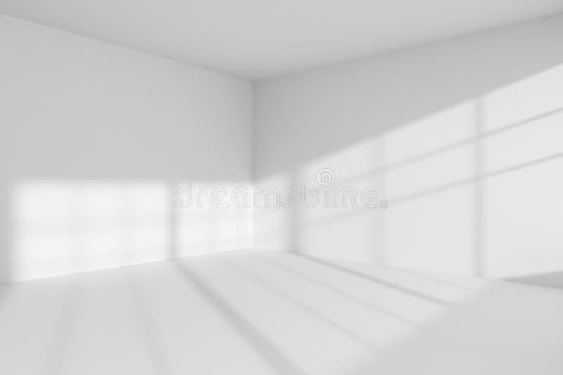 Interior vacío de la esquina del sitio blanco libre illustration