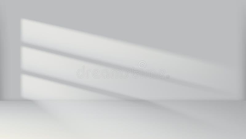 Interior vacío de la luz del sitio blanco de Crean del extracto stock de ilustración