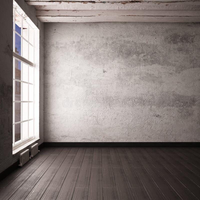 Interior vacío de la maqueta en un estilo del desván 3d libre illustration