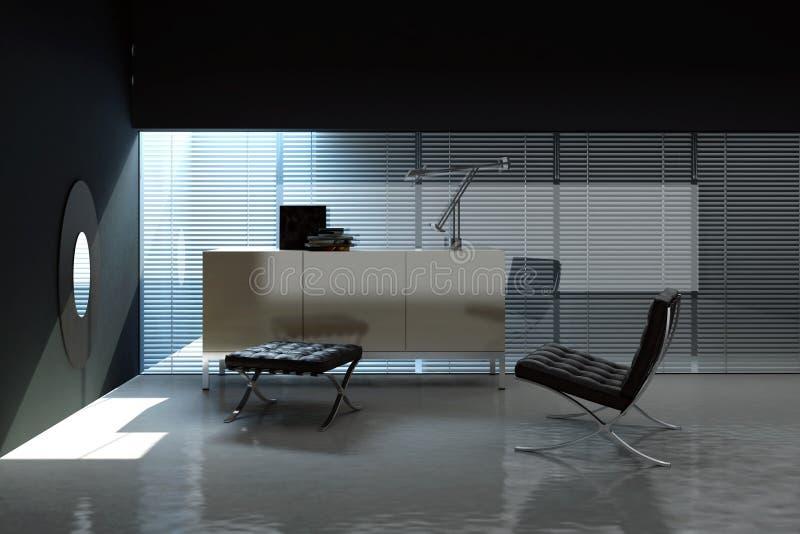 Interior vacío de la oficina stock de ilustración