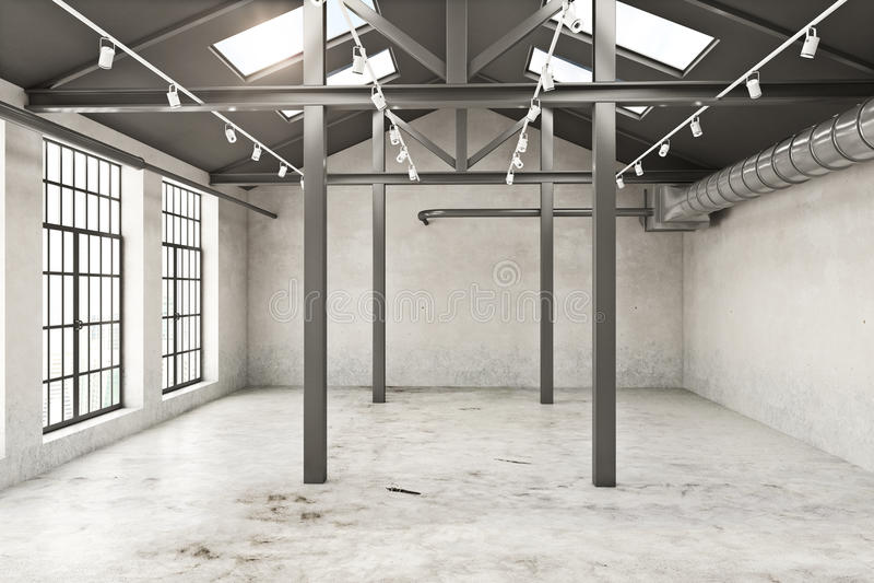 Interior vacío del grunge libre illustration
