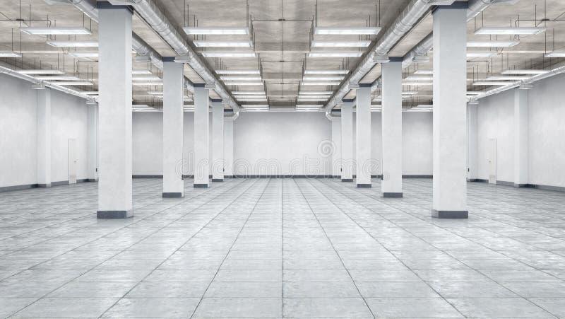Interior vacío del hangar fotografía de archivo libre de regalías