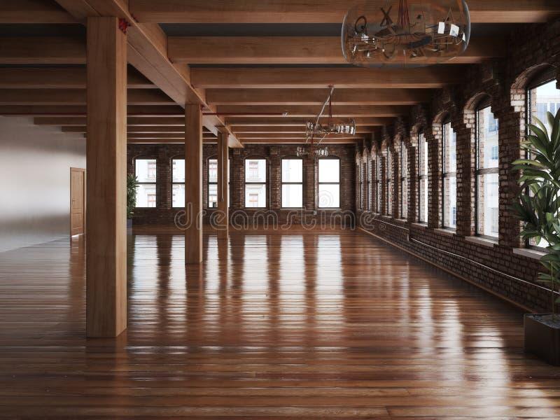 Interior vacío del sitio de un espacio de la residencia o de oficina fotos de archivo libres de regalías