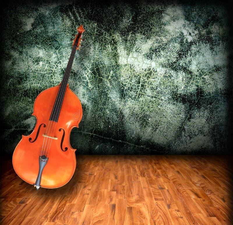 Interior vacío del sitio del violoncelo fotografía de archivo