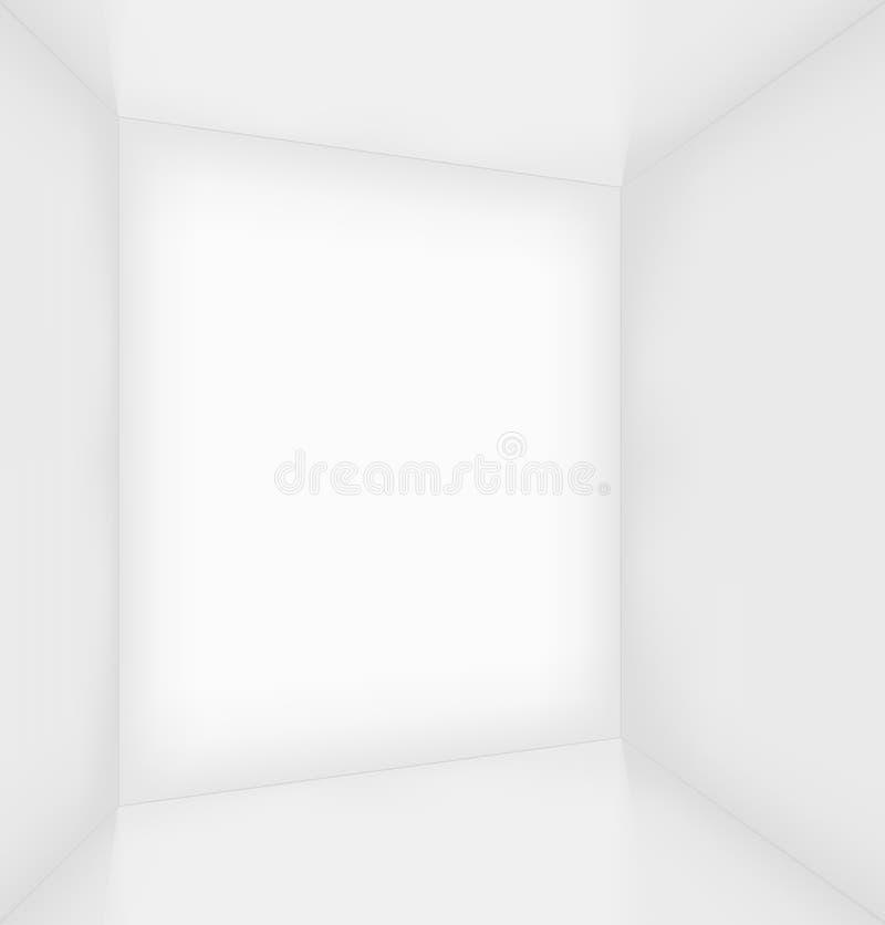 Interior vacío simple blanco del sitio ilustración del vector