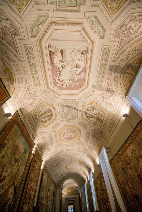 Interior of the Vatican Museums royalty free stock image