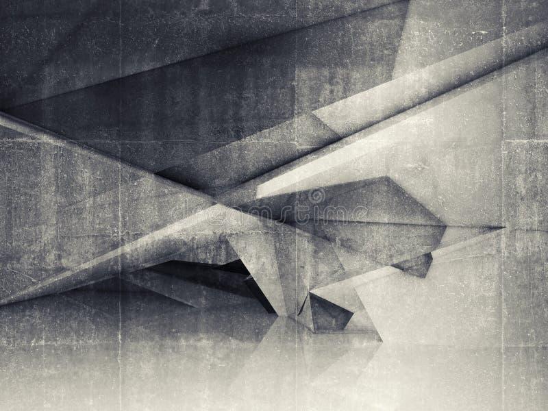 Interior vazio abstrato com estrutura poligonal ilustração do vetor