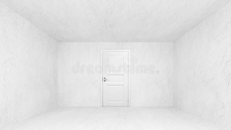 Interior vazio abstrato com muros de cimento ilustração stock