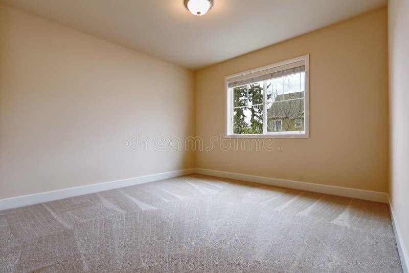 Interior vazio claro da sala em tons bege macios imagem de stock royalty free