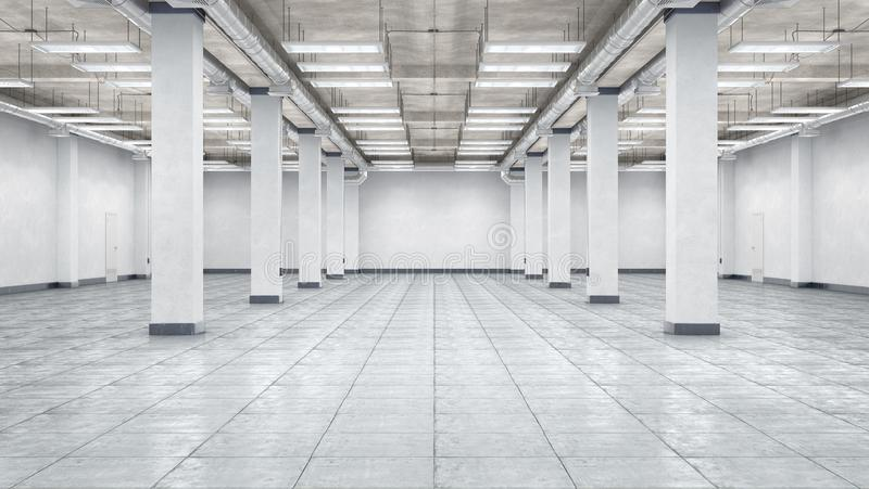 Interior vazio do hangar fotografia de stock royalty free