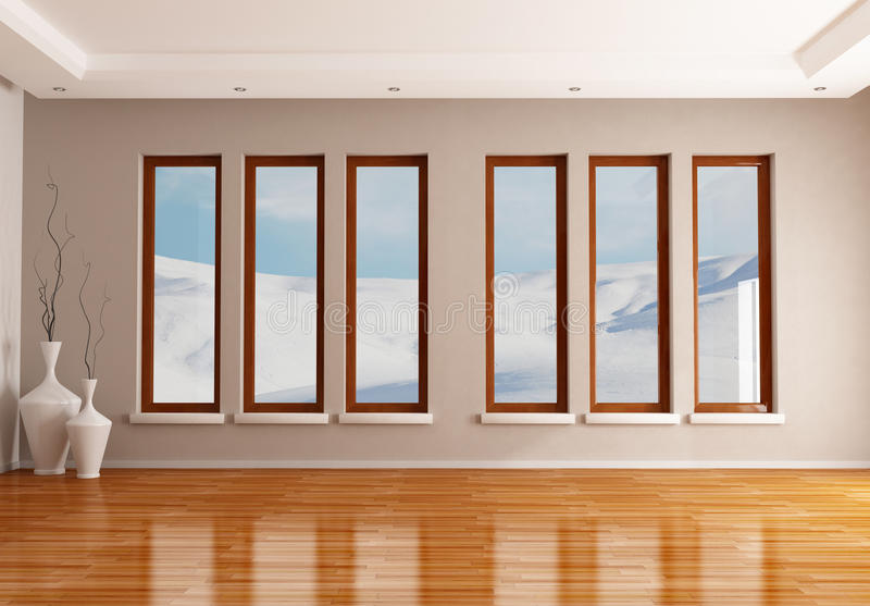 Interior vazio do inverno ilustração royalty free