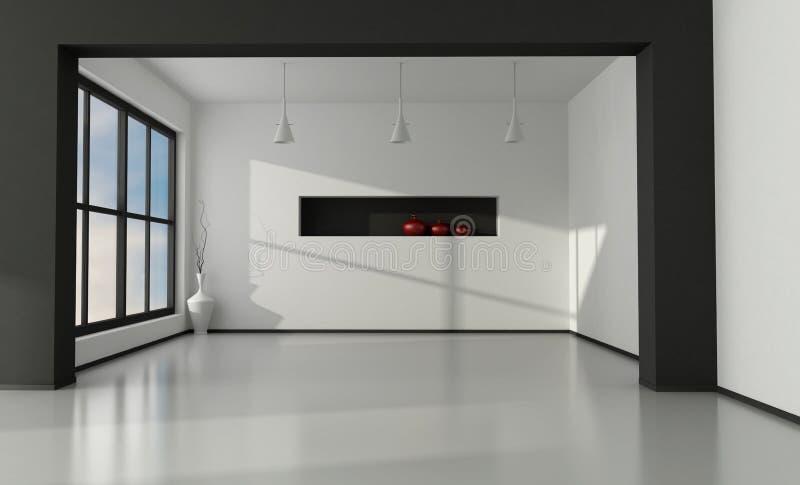 Interior vazio minimalista ilustração do vetor