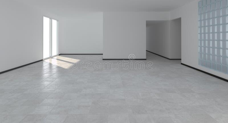 Interior vazio moderno ilustração royalty free