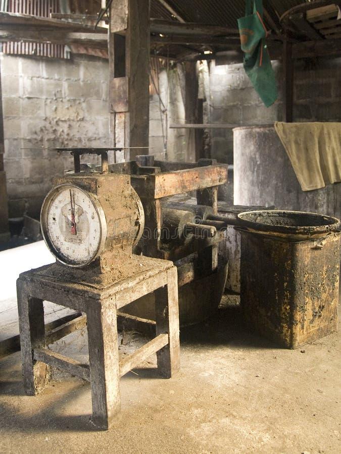 Interior velho da fábrica fotografia de stock