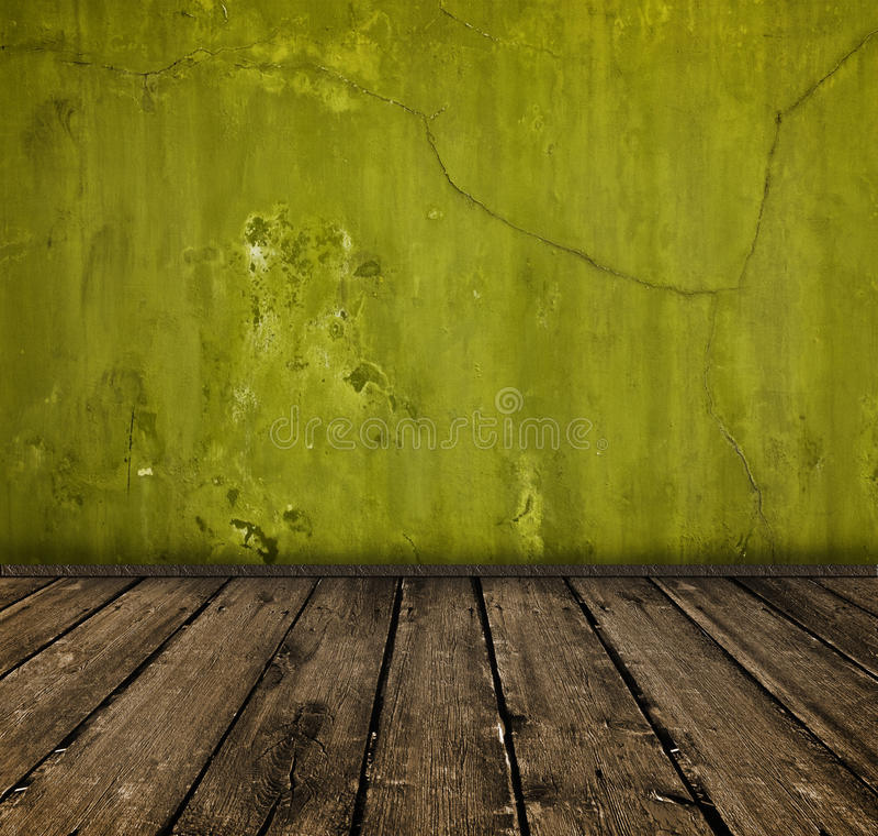 Interior verde foto de archivo libre de regalías