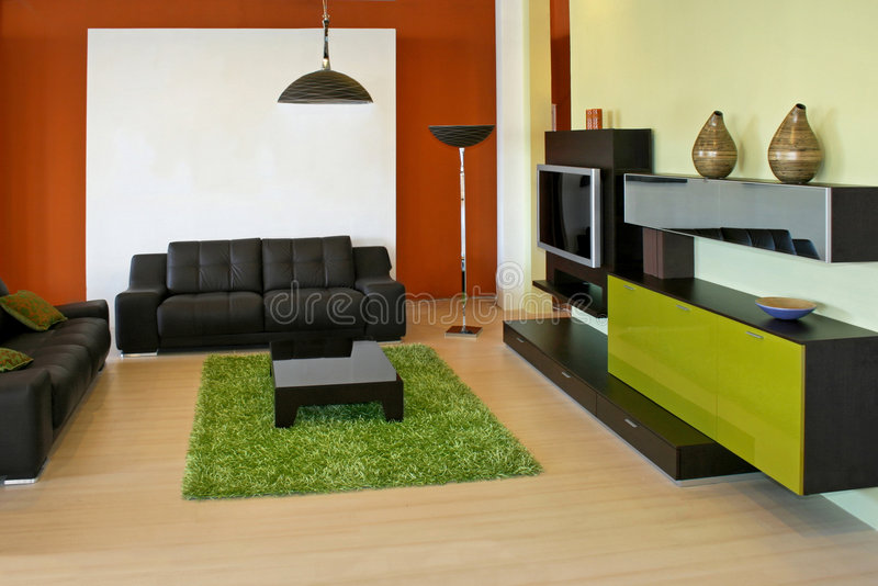 Interior verde foto de stock