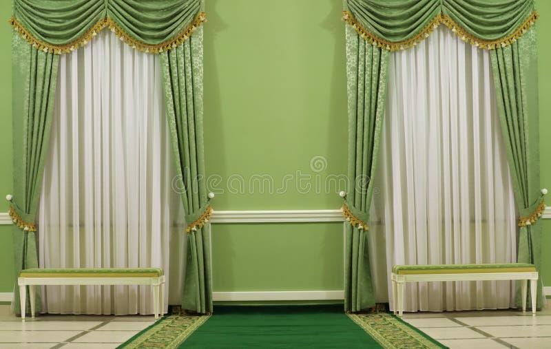 Interior verde foto de archivo