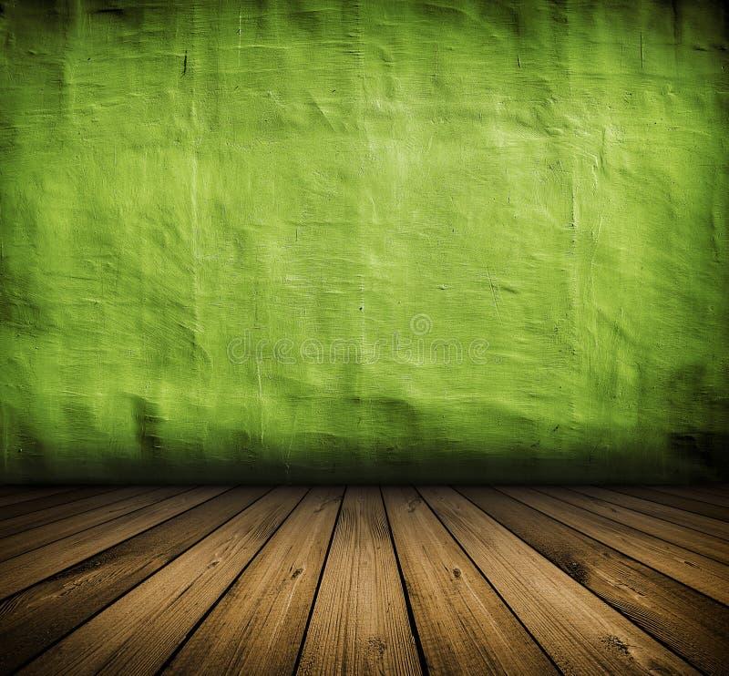Interior verde de la vendimia foto de archivo libre de regalías