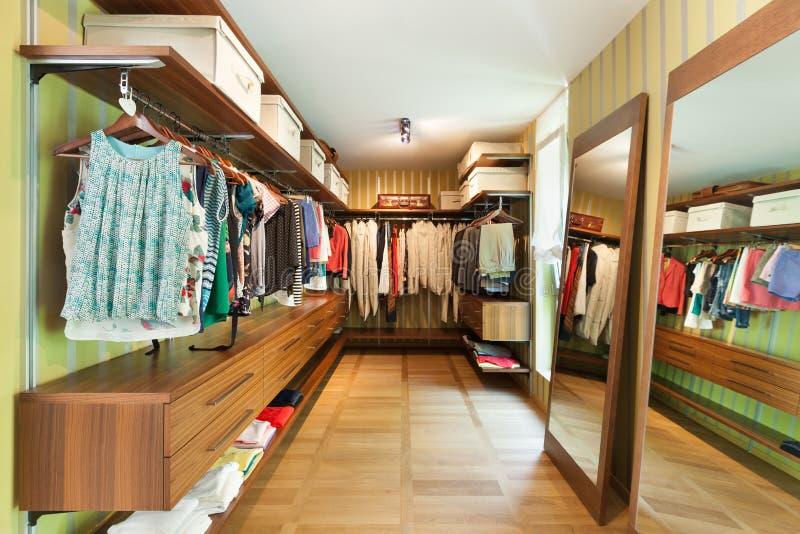 Interior, vestuario foto de archivo libre de regalías