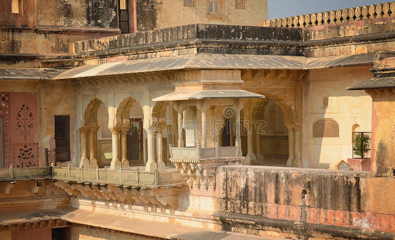 Interior view of Amber Fort, Jaipur royalty free stock photo