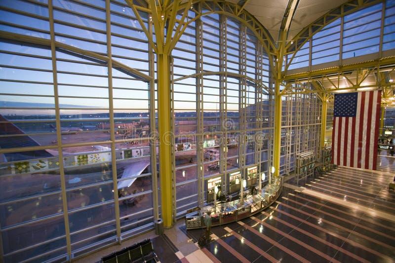 Interior view of American flag at Reagan National Airport in Arlington, Virginia royalty free stock photos