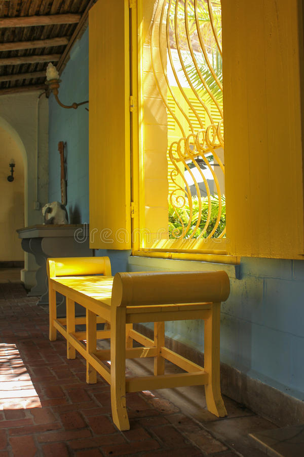 An interior view of Bonnett House in Fort Lauderdale royalty free stock image