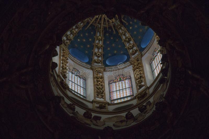 Interior view of the dome of Duomo di Siena. Metropolitan Cathedral of Santa Maria Assunta. Tuscany. Italy. royalty free stock image