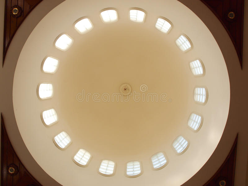 An interior view of dome mosque in Pai, Mae hong s. Interior view of mosque dome in Pai, Mae hong son, Thailand stock image