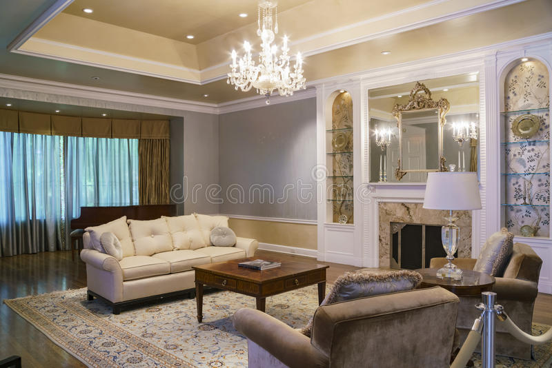 Interior view of the famous Boddy House in Descanso Garden royalty free stock photo