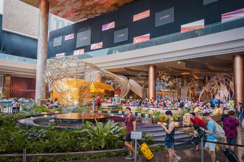 Interior view of ICON SIAM, is the new Shopping Center and Landmark of Bangkok, Thailand. stock photography