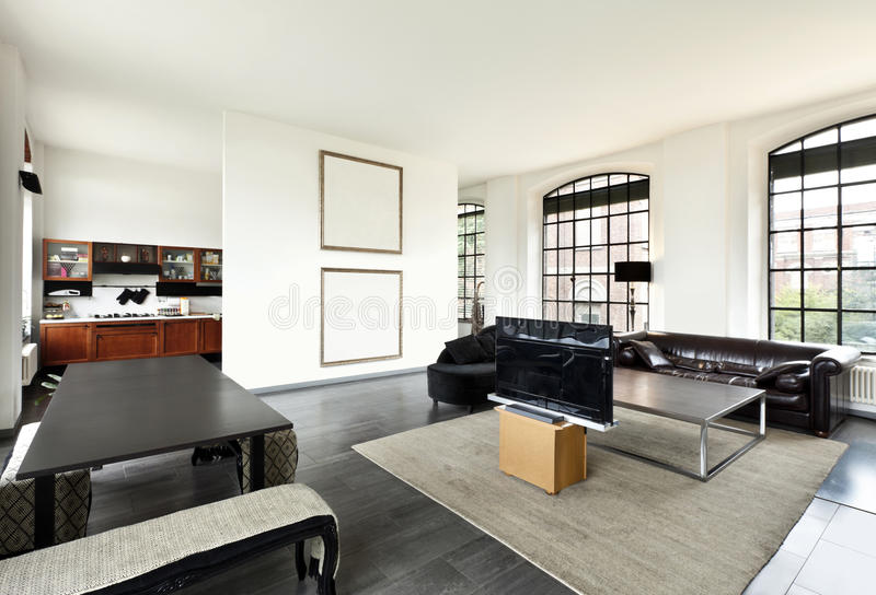 Interior, view of the living room stock photos