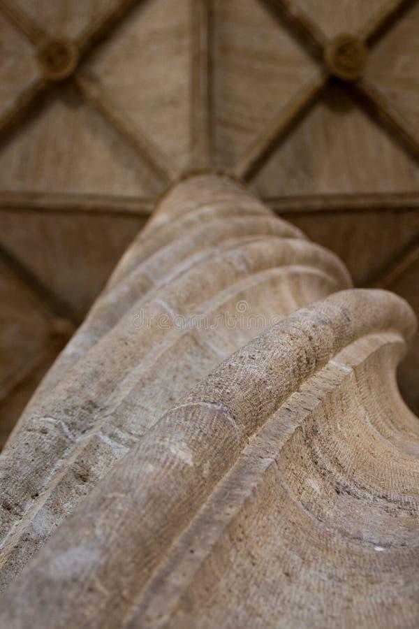 Interior view of Lonja de la seda, historic buildings in Valencia, Spain royalty free stock image