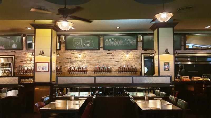 Interior view of the beer bar in Tel-Aviv, Israel royalty free stock photo
