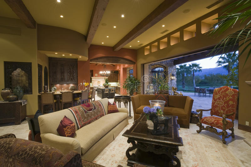 Interior View Of Modern House royalty free stock photography