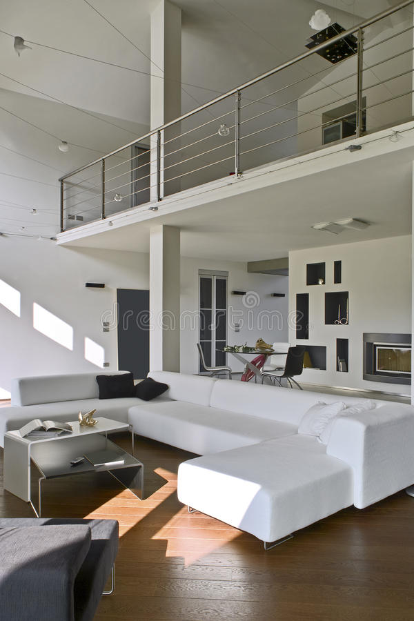 Interior view of a modern living stock images