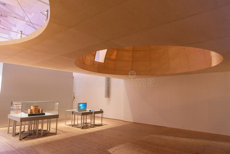 Interior view of Moderna Museet Museum of Modern Art in Stockholm, Sweden stock photography