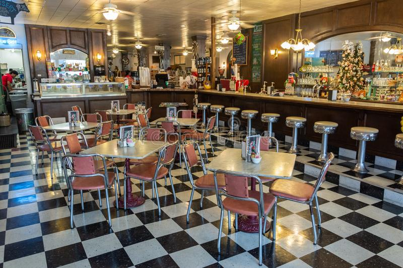 Interior view of Must Be Heaven restaurant in Brenham, TX. Brenham, Texas, United States of America - December 30, 2016. Interior view of Must Be Heaven royalty free stock photo