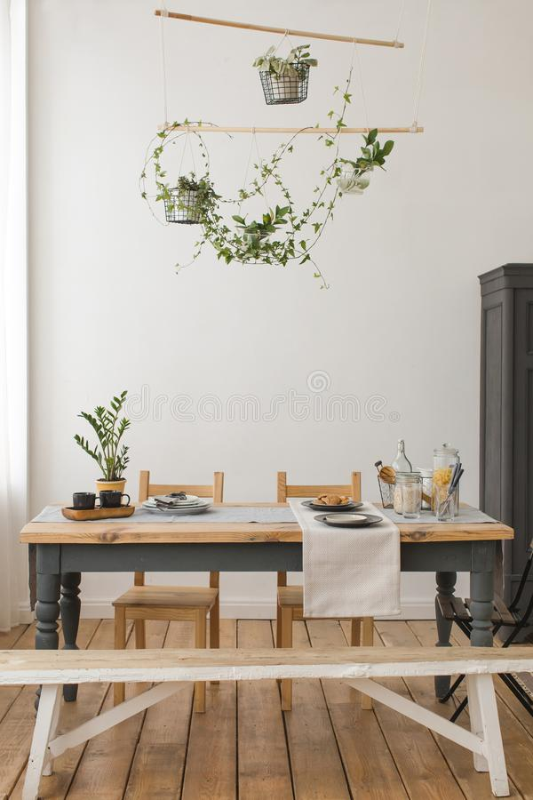 Free Interior View Of Rustic Kitchen Royalty Free Stock Photo - 112836795