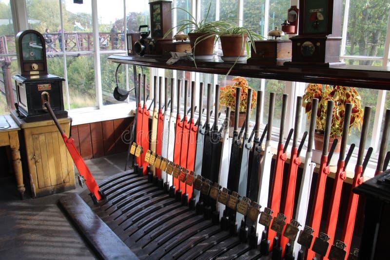 Railway Signal Box. royalty free stock images