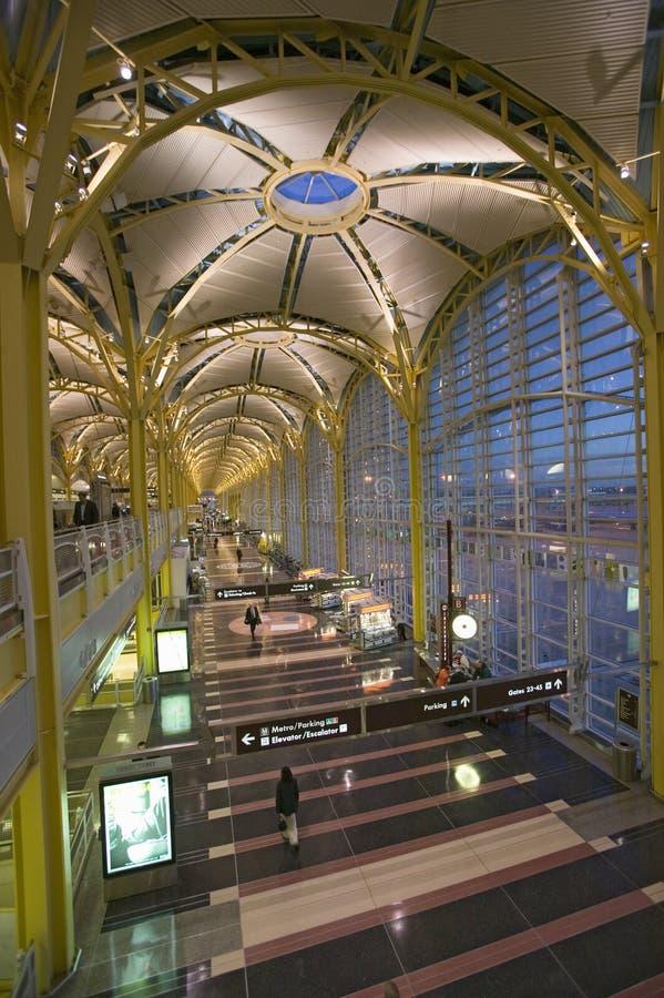 Interior view of Reagan National Airport in Arlington, Virginia royalty free stock image