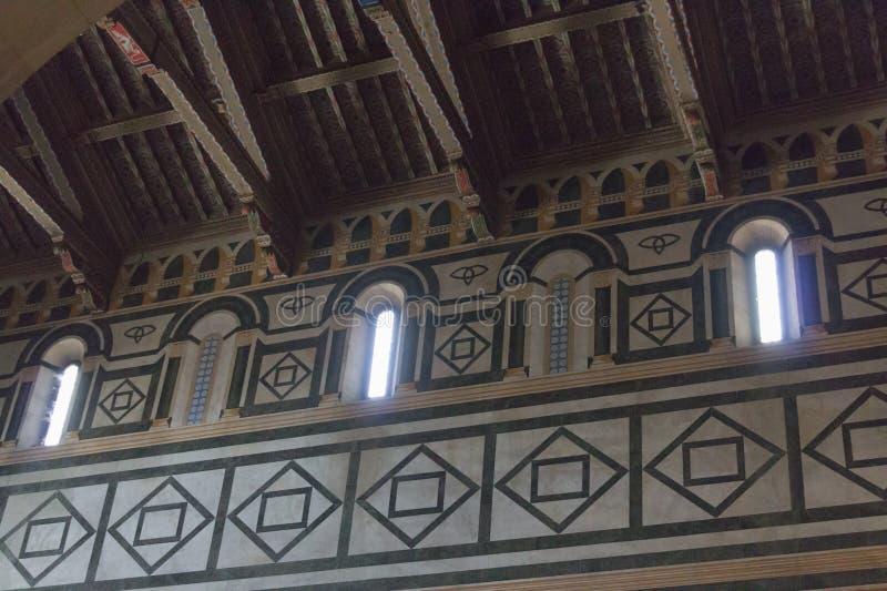 Interior view of San Miniato al Monte Church, Florence, Italy royalty free stock image