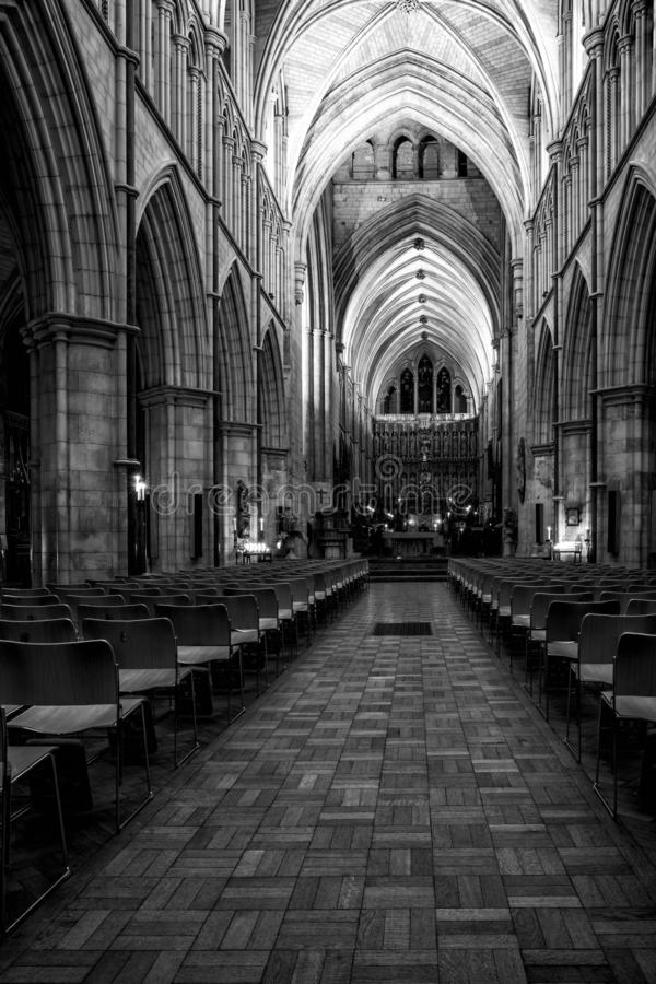 Interior view of Southwark Cathedral in London, UK royalty free stock photos