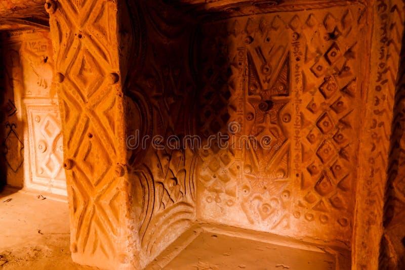 Interior view to traditional old bakery,Agadez, Niger. Interior view to traditional old bakery in Agadez, Niger royalty free stock photo