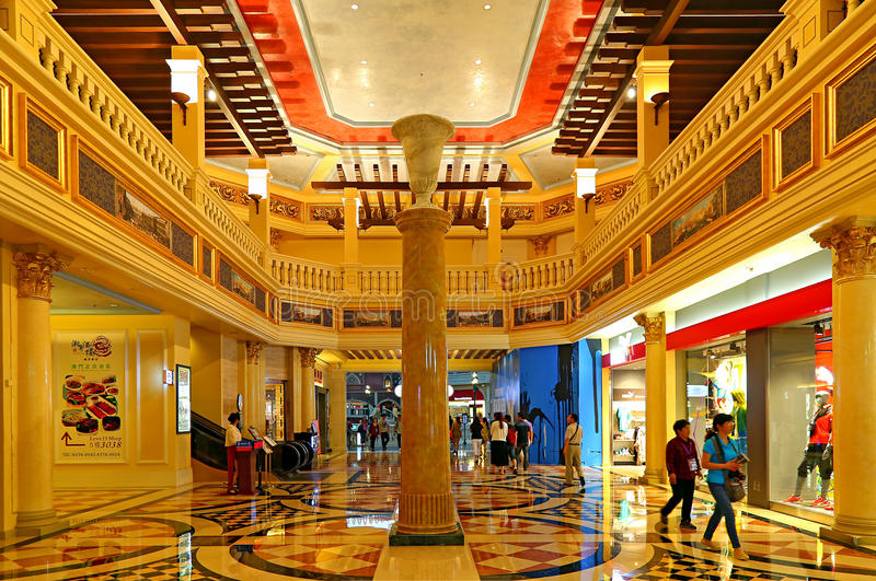 Interior view of the venetian hotel, macau stock image