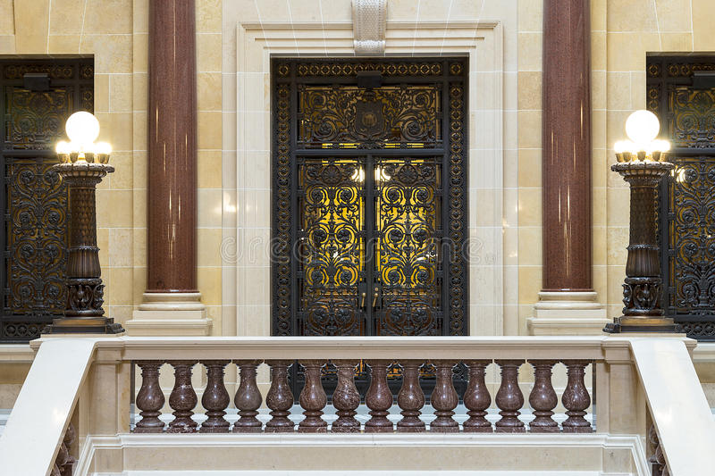 The interior view of Wisconsin State Capitol in Madison stock image