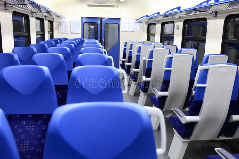 Interior of wagon train stock images
