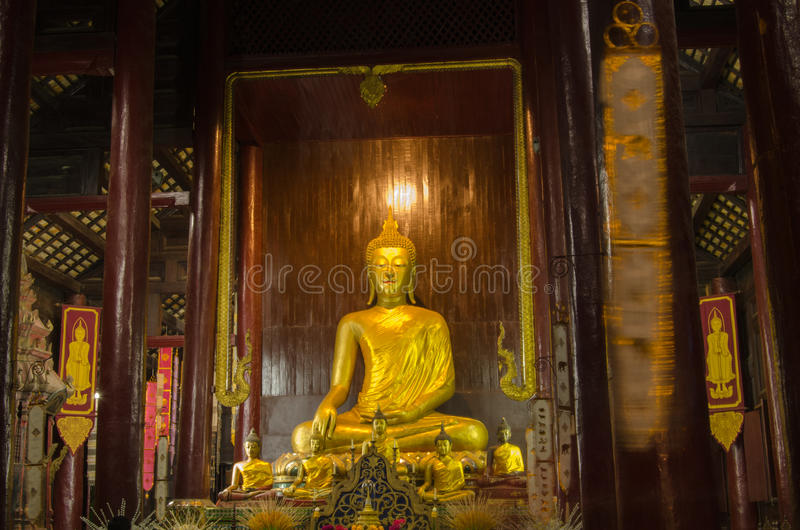 Download Interior, Wat  Phan Tao, Thailand Royalty Free Stock Photography - Image: 28853257